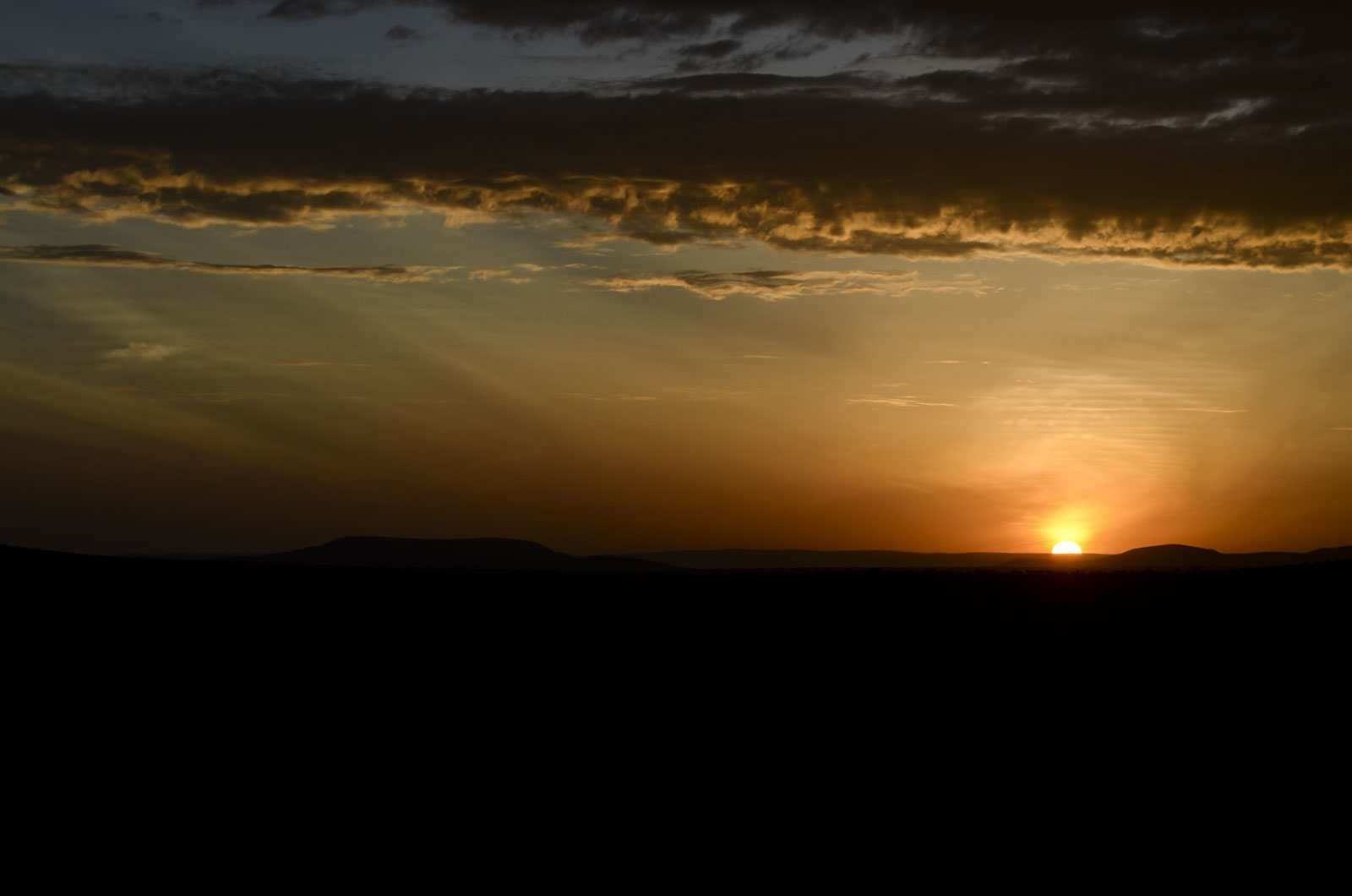 Sunrise, Maasai Mara.